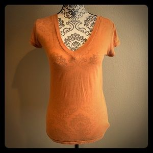 Burnt Orange V-Neck T-Shirt